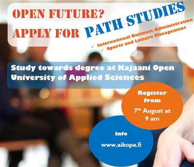 Registration for Open Path Studies opens on 7th of August at 9 am!